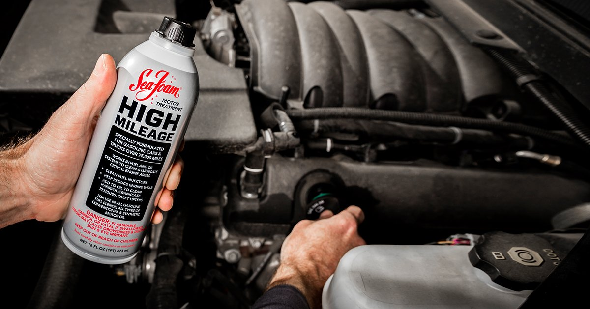 Types Of Oil For Cars >> Sea Foam HIGH MILEAGE Motor Treatment | Sea Foam Sales Company