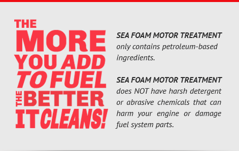 Sea Foam Instructions